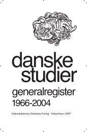 Register 1966 - 2004 - Danske Studier