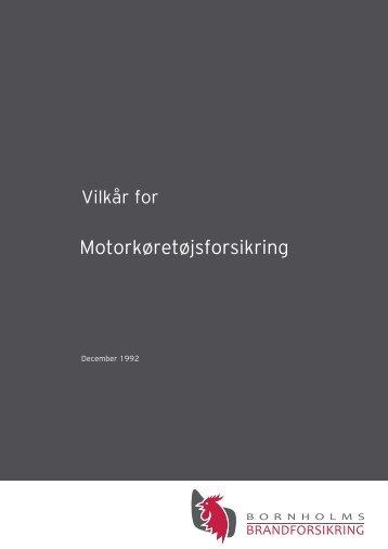 Motorkøretøj - Bornholms Brandforsikring A/S