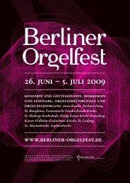 Flyer / Plakat - Berliner Orgelfest
