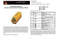 Betjeningsvejledning Entreprenør rørlaser QL 150 D og ... - Laser-Prof