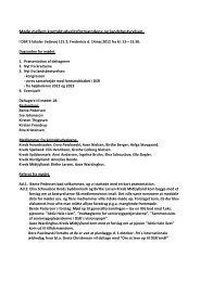 Referat fra møde med kontaktudvalgsformænd den 14. maj 2012