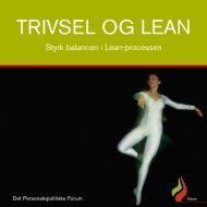 Brochure: Trivsel og Lean - KLK