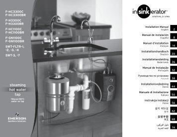 steaming hot water tap - InSinkErator
