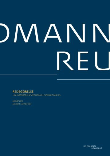 REDEGØRELSE - Capinordic Bank