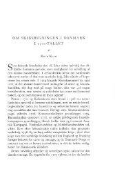 OM SKIBSBYGNINGEN I DANMARK I 1700-TALLET - Handels- og ...
