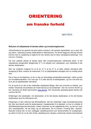 ORIENTERING april 2013 - Danskere i Toulouse