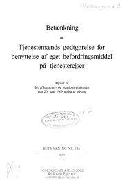 Betænkning Tjenestemænds godtgørelse for benyttelse af eget ...
