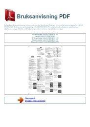 Instruktionsbok SAGEM ITD48NG SW - BRUKSANVISNING PDF
