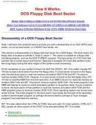 DOS Floppy Disk Boot Sector - Bandwidthco Computer Security