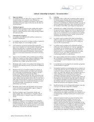 Addtech, Almindelige betingelser – Lejeaftale