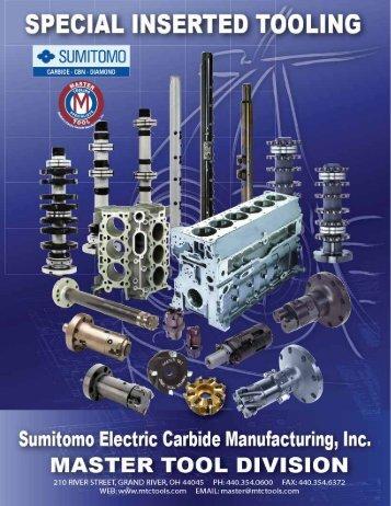 SCM Master Tool Division Catalog Ver2010 - Sumitomo
