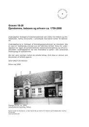 Graven 18-20 Ejendomme, beboere og erhverv ca. 1750-2000