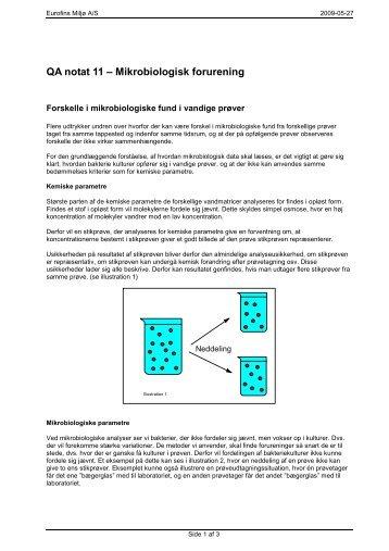 Kvalitetsnotat Mikrobiologisk forurening - Eurofins