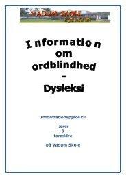 Information Om Ordblindhed - Vadum Skole