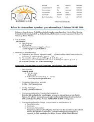 Referat fra ekstra- og ordinær generalforsamling d. 9/2 ... - BK Roar