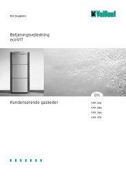 Betjeningsvejledning ecoVIT Kondenserende gaskedel DK - Vaillant
