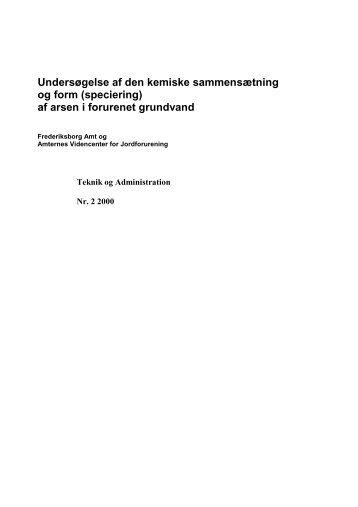 Vis rapport - Videncenter for Jordforurening