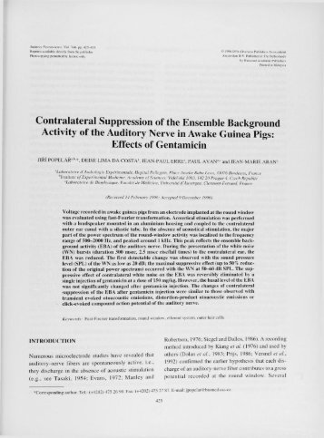 Contralateral Suppression of the Ensemble Background Activity of ...