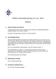 DSMU's Generalforsamling 19. nov. 2010 Referat