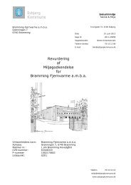 Revurdering af miljøgodkendelse - Esbjerg Kommune