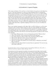 1-Introduction to Argument Mapping 1 An Introduction to Argument ...