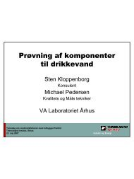 Prøvning af komponenter til drikkevand - Teknologisk Institut