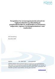 Perspektiver for et tværorganisatorisk netværk for faglig ... - aqviva