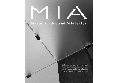 Master i Industriel Arkitektur - Kunstakademiets Arkitektskole