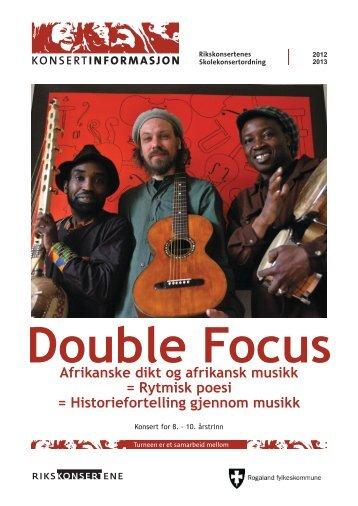 Double Focus Afrikanske dikt og afrikansk musikk = Rytmisk poesi ...