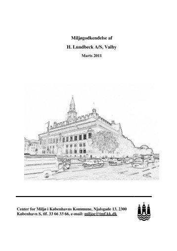 Miljøgodkendelse af H. Lundbeck A/S, Valby - kloeverbladet.dk