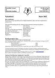 Nyhedsbrev Marts 2012 - Kastellets Venner & Historiske Samling