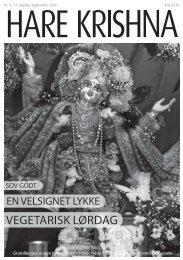 VEGETARISK LØRDAG - Nyt fra Hare Krishna