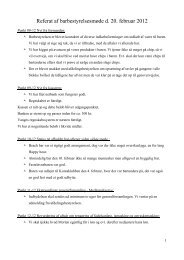 Referat af barbestyrelsesmøde d. 20. februar 2012 - Kollegiekontoret