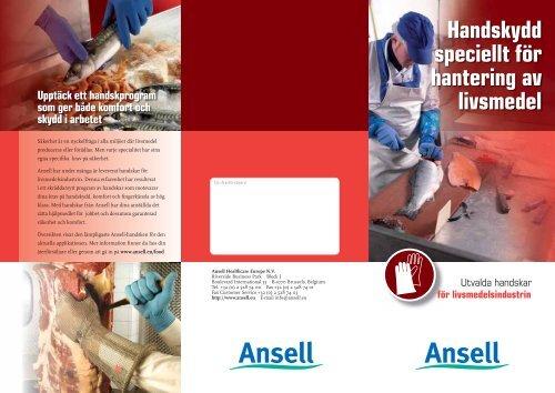 Handskydd speciellt för hantering av livsmedel - Ansell Healthcare ...