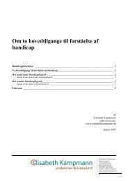 to forskellige tilgange - Elisabeth Kampmann