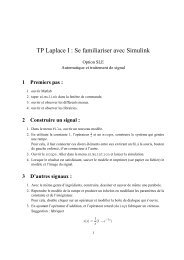 TP Laplace I : Se familiariser avec Simulink - Verimag