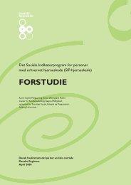FORSTUDIE - Dansk kvalitetsmodel på det sociale område