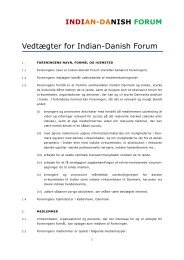 Vedtægter for Indian-Danish Forum