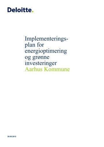 plan for energioptimering og grønne investeringer Aarhus Kommune