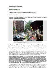 Gentrifizierung - Analyse & Konzepte
