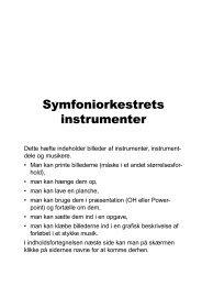 her - Symfoniorkestrets instrumenter