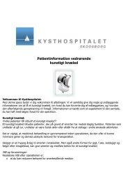 Patientinformation vedrørende kunstigt knæled - Kysthospitalet