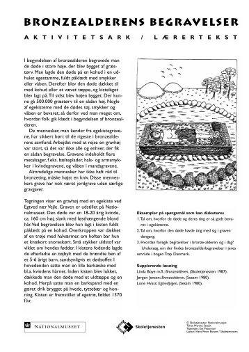Bronzealder-begravelse - Skoletjenesten
