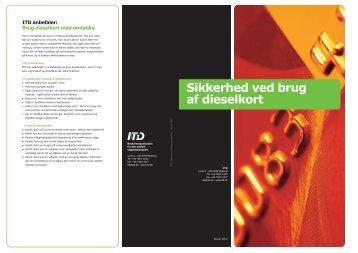 ITD - Sikkerhed ved brug af dieselkort - Januar 2012.indd