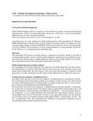 GAF – Global Assessment of Function – Delt version.