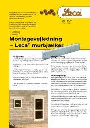 Montagevejledning - Leca® murbjælker - Weber