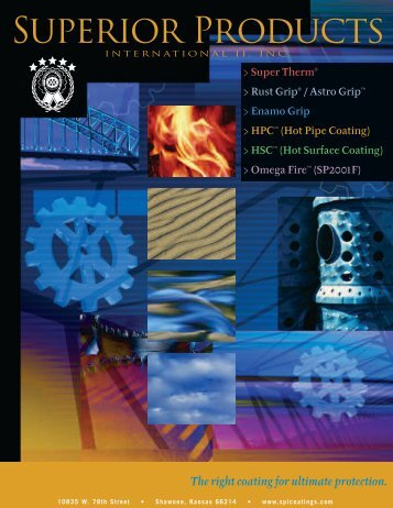 Superior Products Coating Products Line Brochure