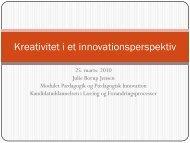Kreativitet og innovation