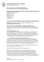 notat fra Styreleder - Det juridiske fakultet