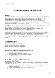 Undervisningsplan for fysik/kemi - Højby Friskole